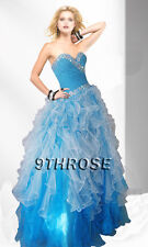 STAR IN YOUR FAIRYTALE! BLUE BEADED PROM/FORMAL/EVENING/BALL GOWN AU 18/US 16