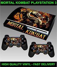 Play Station 3 Consola pegatina Piel Mortal Kombat Estilo Piel & 2 X Pad Skins