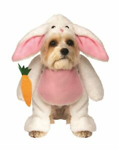 Walking Bunny Rabbit Pet Dog Costume Easter Clothes Dress Up Faux Fur SM-XXL