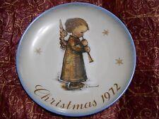 "Sister Berta Hummel 1972 Limited Edition Christmas Plate ""Engel mit Flote"""