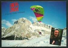 Jimmy Pacher ( Campione Mondo Parapendio ) - Val di Fassa - cartolina anni '90