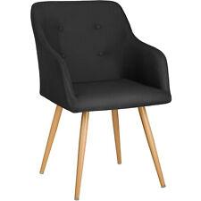 Chaise de salle à manger fauteuil cuisine salon design scandinave vintage noir