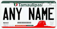 Tamaulipas Mexico Any Name Number Novelty Auto Car License Plate C07