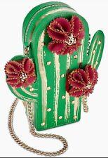 BETSEY JOHNSON Kitsch Lookin Sharp Cactus Crossbody Bag UC9 NEW NWT purse