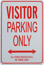 VISITOR Parking Only - Miniature Fun Parking Sign
