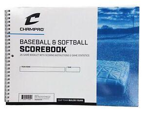 CHAMPRO Baseball/Softball Scorebook WHITE
