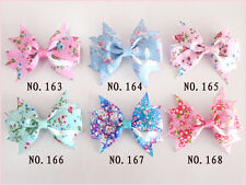 """500 BLESSING Girls Custom Boutique 2//2.5/"""" Wing Bow Hair Clip 248 No."""