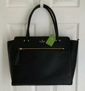 NWT $399 KATE SPADE NEW YORK Allyn Chester Street Tote Leather Bag Black