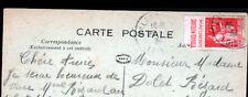 MALESHERBES (45) HOTEL de VILLE / Timbre bande publicité MOTEUR BERNARD en 1934