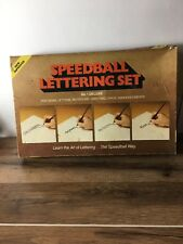 Vintage Speedball Lettering Set No.1 Deluxe~ Used