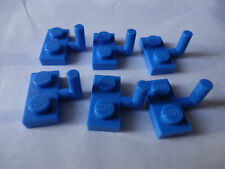 LEGO BLUE MODIFIED PLATE WITH HORIZONTAL ARM x 6 PART 4623