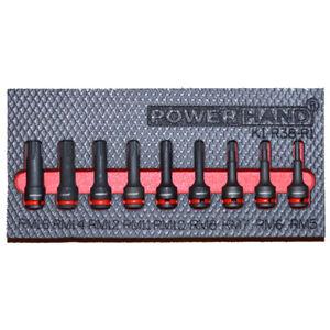 "3/8"" Drive Ribe Impact Socket Set 9 Pce Powerhand KI-R38-R1"