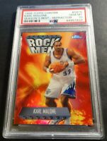 1998 KARL MALONE TOPPS CHROME SEASONS BEST ROCK MEN REFRACTOR SB16 PSA 10 POP 4