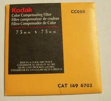 "KODAK COLOR COMPENSATING FILTER NO. CC05R 3"" or 75mm Square used"