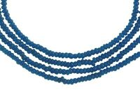 Old African trade beads blue tiny Venetian glass seed beads Ghana trade necklace