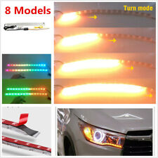 Car 8 Models DRL Turn Signal Lamp Flowing Colorful Light 12V w/ Remote Control