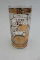 Culver FT. McHENRY Baltimore 22ct gold trim glass/tumbler. Star spangled banner.