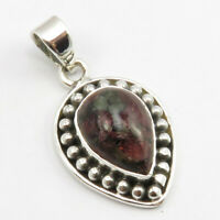 """925 Sterling Silver Eudialyte Necklace Pendant 1.7"""" New Wedding Jewelry"""