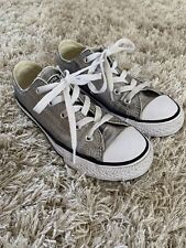 Girls' Silver Converse Sneakers - Size 13.5 (Pre-Owned)