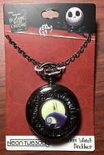 DISNEY THE NIGHTMARE BEFORE CHRISTMAS JACK & SALLY POCKET WATCH STYLE NECKLACE
