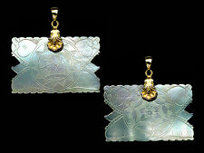 SQURISH.DOLPHIN Pendt.Engrvd.2 Sides c1770 CHINE.PEARL COUNTER VERMEIL FNCY BALE