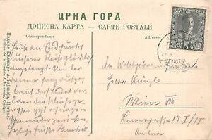 MONTENEGRO - PPC Postcard used from Cettigne to Austria, c 1908