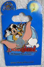DLR Disneyland Mickey and Pluto on Dumbo the Flying Elephant Disney Pin NEW