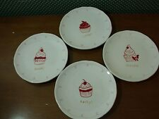 DEPT. 56 -HOME ENTERTAINING -SET OF 4 CUPCAKE PLATES-NEW