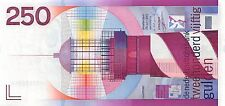 Netherlands 250 Gulden 1985 Lighthouse Unc  RARE note