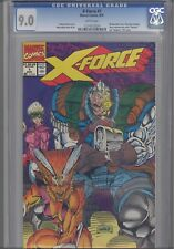 X-Force #1 CGC 9.0 1991 Comic with original Bag/ & Card Wrap-a-round Cover