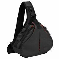 Shockproof Camera Bag Sling Backpack Case with Rain Cover Tripod Holder for DSLR