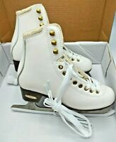 Lake Placid Alpine 900 Women's Traditional Figure Ice Skate Size 5, WHITE LP315W