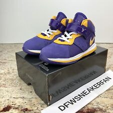 Nike Lebron VIII TD 8 Lakers James LBJ Purple Gold Toddler Ct5116-500 Sz 9c