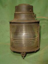 Large vintage Crouse Hinds light fresnel lens search light bridge light runway