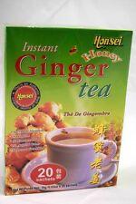 2 Boxes Honsei Instant Ginger Honey Tea Original ( 20 X 2 boxes : 40 Sachets)
