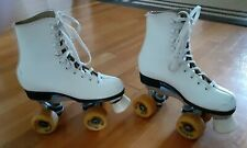 VINTAGE PACESETTER  Roller Skates White Leather Womens Size 6    SURE GRIP,