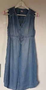 H&M Mama Blue Denim Look Maternity Dress Size Small