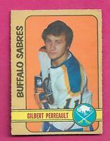 1972-73 OPC  # 136 SABRES GILBERT PERREAULT VG+  CARD (INV# C9851)