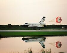 Space Shuttle Columbia lands after STS-94 with drogue chute deployed Photo Print