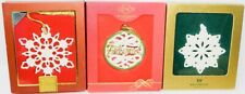 Lenox 2006 Snow Fantasies & Friend Snowflake Ornaments + Wedgwood Snowflake