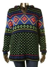 Ralph Lauren Active Womens $165 NWT Fair Isle Pullover Hoodie Sweater, L, Large
