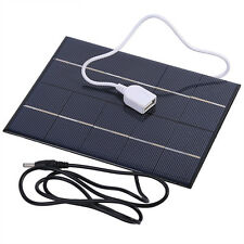 Portable Travel 5V 3.5W USB Solar Panel Charger For Power Bank 18650 Battery DH