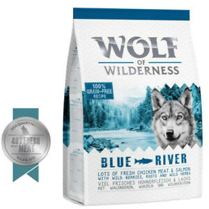 """5kg Wolf of Wilderness Adult """"Blue River"""" - Salmon High Meat Content"""