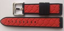 Locman 20mm RED/BLACK RUBBER QUICK-RELEASE  WATCH BAND/STRAP . NEW