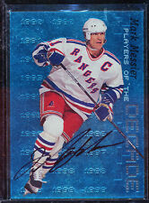 1999-00 BE A PLAYER BAP PLAYERS OF THE DECADE MARK MESSIER AUTO 42/1000 BV $100