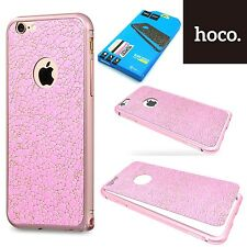 Hoco Blade Aluminum Bumper & Leather Sticker Case Cover  iPhone 6S Plus - Pink