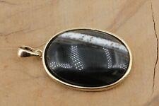 Sardonyx Silber Anhänger 925 Sterling Silber vergoldet Länge 34,6mm 4,86g Onyx
