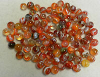 #10228m Vintage Group of 100 Peltier Glass Marbles .56 to .63 Inches