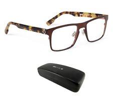 New Spy Optic Heath (52-18-145) Brown Mens Square Hipster Rx Eyeglasses Msrp$160