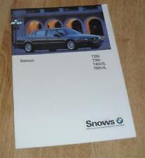BMW 7 Series E38 Saloon Brochure 1996 - 728i 735i 740i 740iL 750i 750iL
